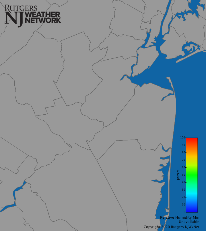 Central New Jersey Relative Humidity (Daily Min)