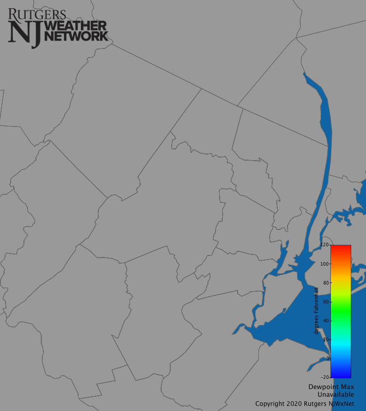 Northern NJ Dew Point (Daily Max)