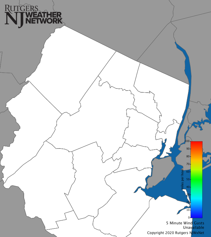 North New Jersey Wind Gust Map