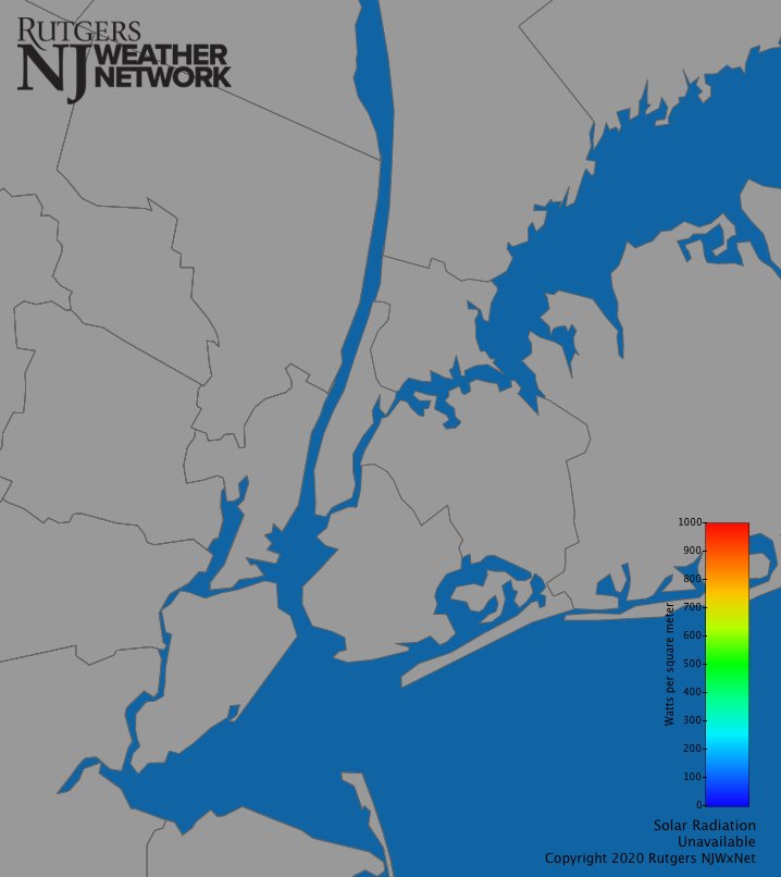 New York City Solar Radiation Map