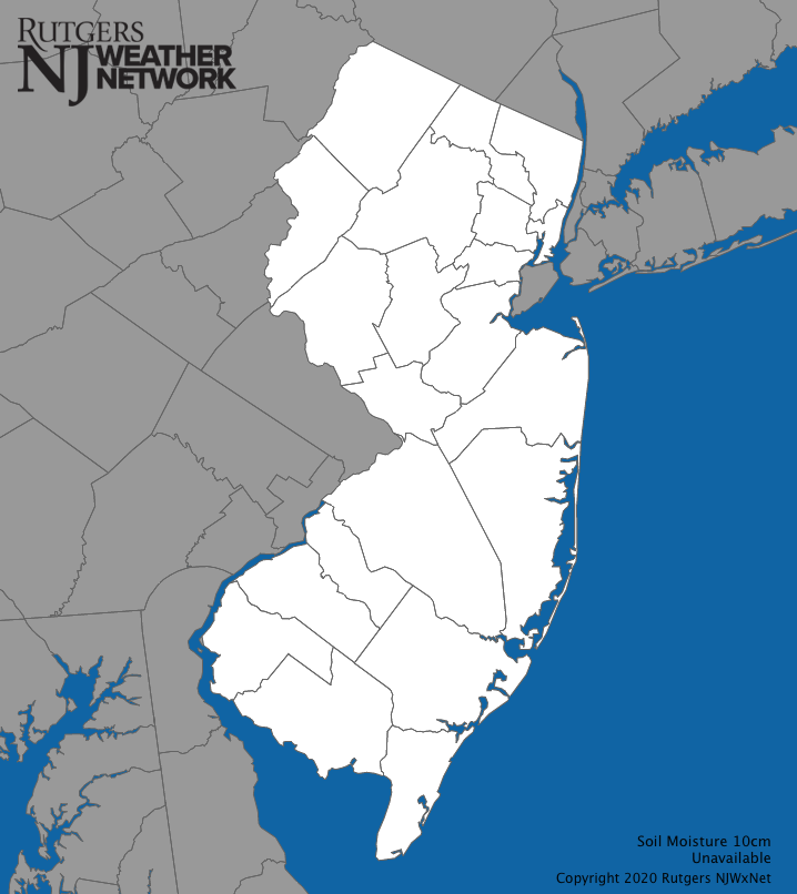 New Jersey Soil Water Content Map