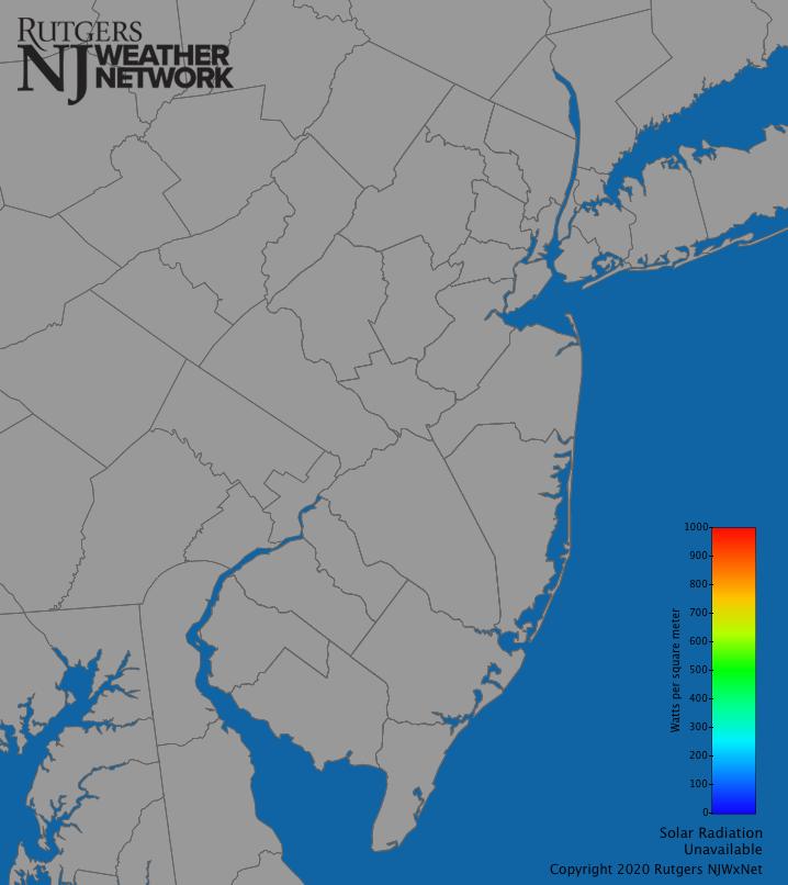 New Jersey Solar Radiation Map