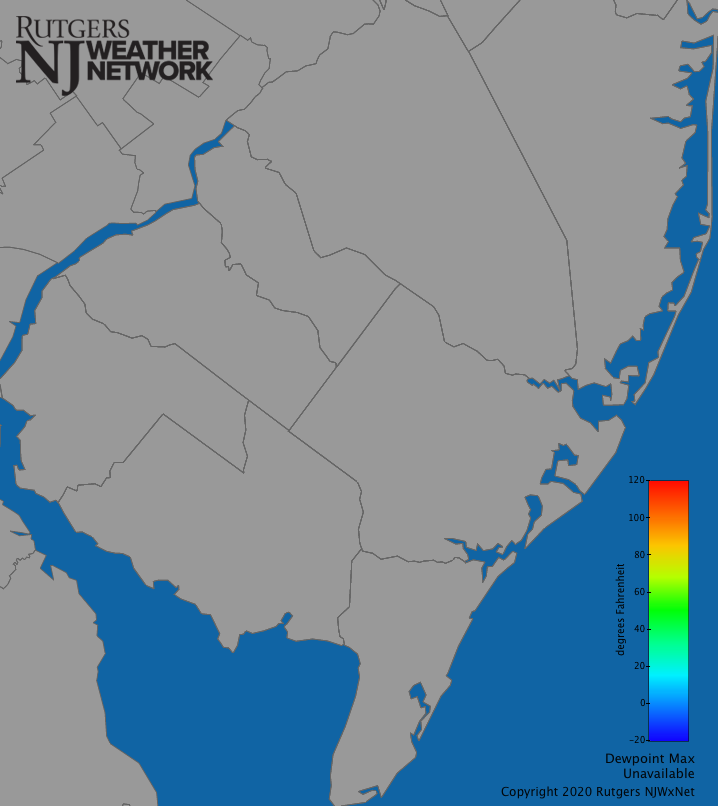 Southern New Jersey Dew Point (Daily Max)
