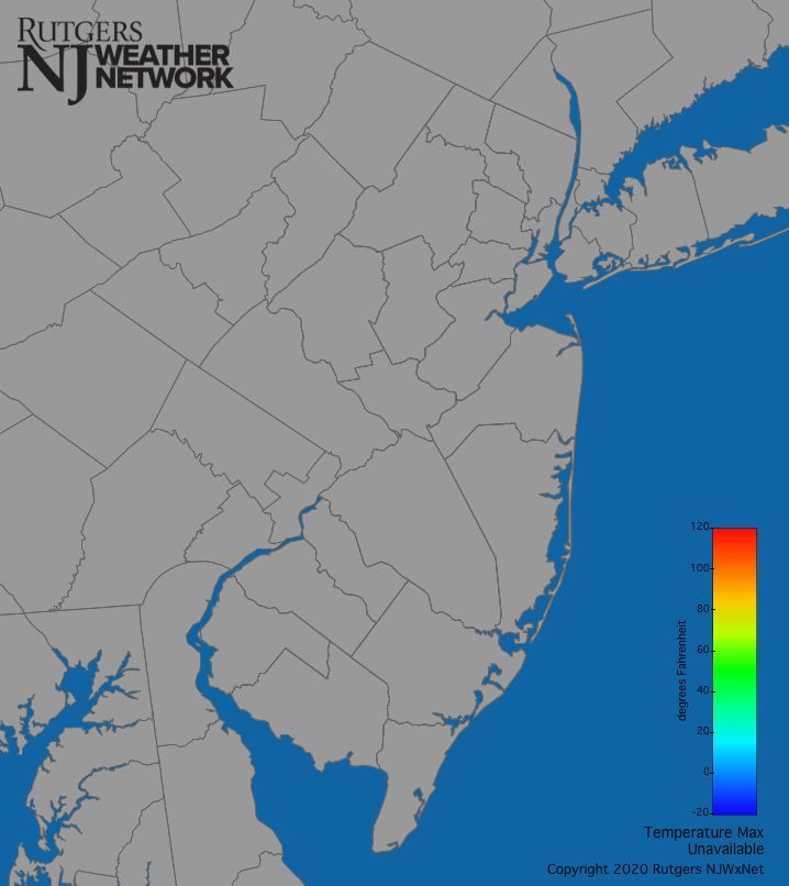 NJ Statewide Air Temperatures (Daily Max)
